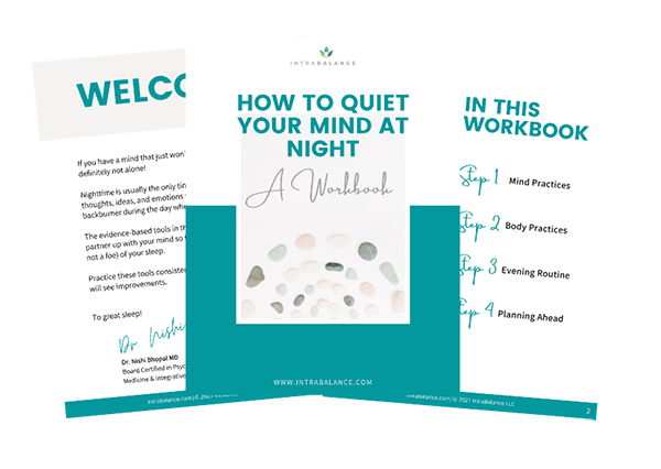 How to Quiet Your Mind at Night Workbook from Intrabalance